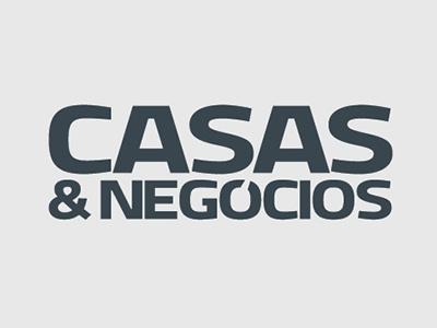 Logotipo Casas&Negócios design gráfico branding logotipo