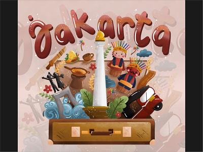 Jakarta City vector design ui logo illustration handrawn digital branding autosketchbook