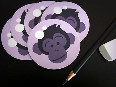 Space Chimp Logo Stickers