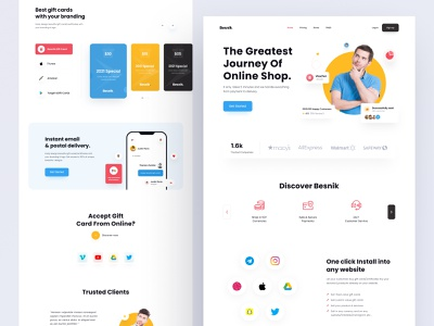 e-Commerce Landing-Page (Gift Card Selling). gift card landingpage gift card header ui header ecommerce website ecommerce landingpage ecommerce landing page agency website agency landingpage web ui ui resource uihut landing page resource free ui resource branding agency