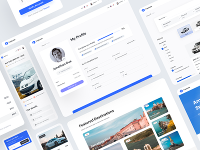 TripGuide - Booking Web App UI Kit filter styleguide design system component search book trip tour travel website travel insurance booking web app ui kit booking web app booking platform web design ui software design web application dashboard free ui resource ui resource uihut