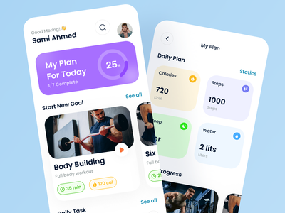 Heal You - Fitness App UI Kit design resource ux design ui design fitness app kit fitness app ui kit fitness app design fitness app free ui resource ui resource uihut