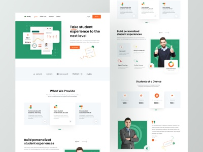 Online Learning Website Template ui learn anything best online courses ux landing landing page learning website online learning website logo