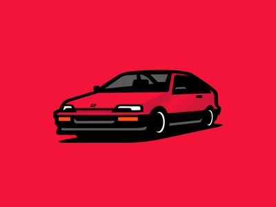 Crx Si illustration car crx honda