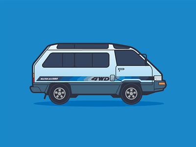 Toyota Master Ace Surf 4WD car toyota van