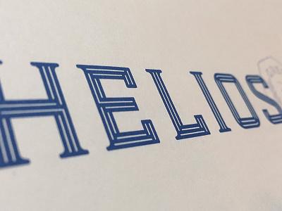 Helios custom type typography