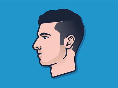 Self Portrait illustration profile portrait