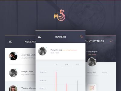 Roostr - Mobile App patrykkopec ios app mobile roostr