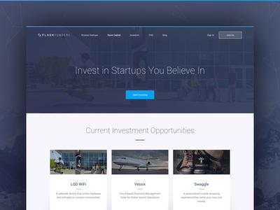 FlashFunders Homepage design homepage kopeć patryk startups crowdfunding flashfunders