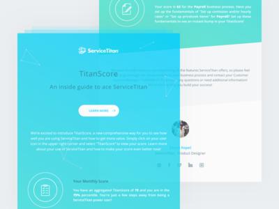 TitanScore Newsletter gradient green blue newsletter titanscore servicetitan