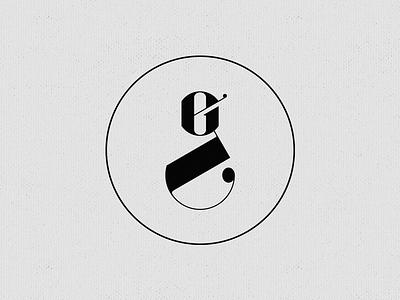 Gustavo Esquinca Monogram identity monogram gustavo esquinca mark personal typography serif modern circle black ge wip