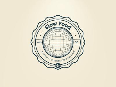 Slow Food Denver Badge slow food denver colorado badge snail community