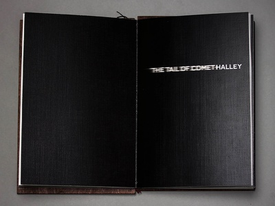 The Tail of Comet Halley book illustration staccato spread typography comet halley tail may 1910