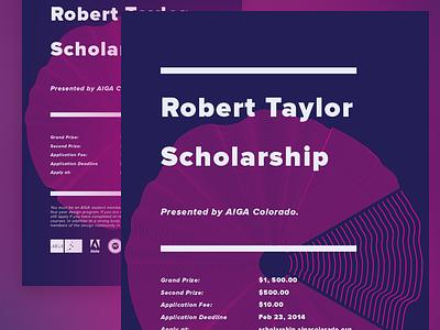 Robert Taylor Scholarship Poster, 2014 2014 robert taylor aiga scholarship poster