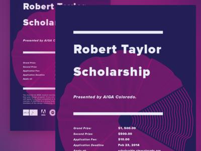 Robert Taylor Scholarship Poster, 2014