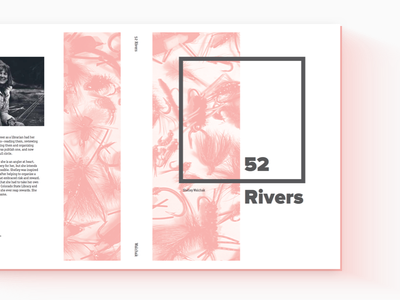 52 Rivers Book Cover fly fishing 52 rivers cover design book