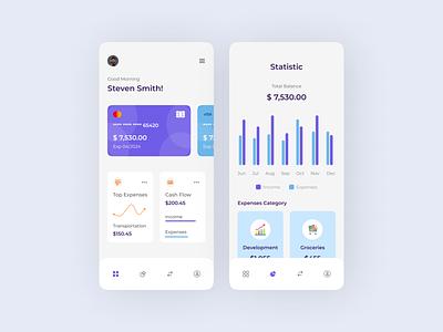 Finance App invest fintech financial interface statistics bank banking finance finance app banking app wallet wallet app chart money mobile app ios ui ux ui design exploration