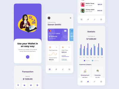 Finance App Concept exploration ui design ux ui ios mobile app money chart wallet app wallet banking app finance app finance banking bank statistics interface financial fintech invest