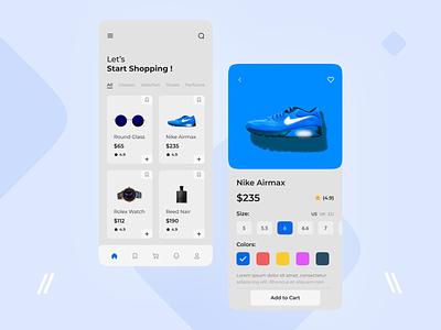 E-commerce App Design multi vendor shops shop app minimal mobile ui ios shoes app store sneakers app shoe e-commerce mobile app design ux ui