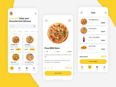 Pizza Day app ux ui design