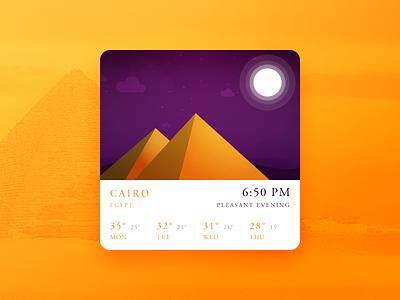 Weather orange widget evening egypt new daily ui weather