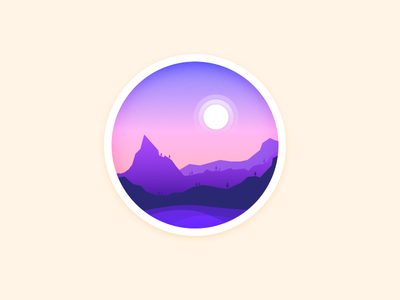 Mountains in the night moon daily night mountain illustration