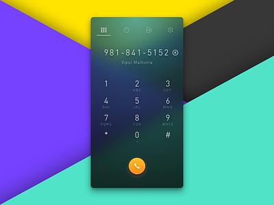 Phone Dialer color modern daily dialer ui phone