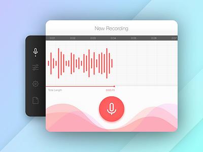 Recording Interface seek timeline menu mac ui recording