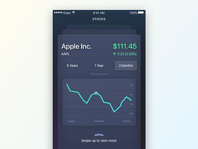 Stock Tracker apple tracker ios ui stock