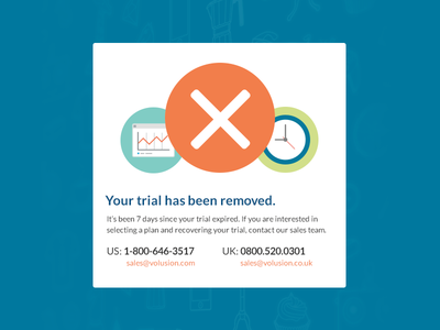 Expired trial removed message