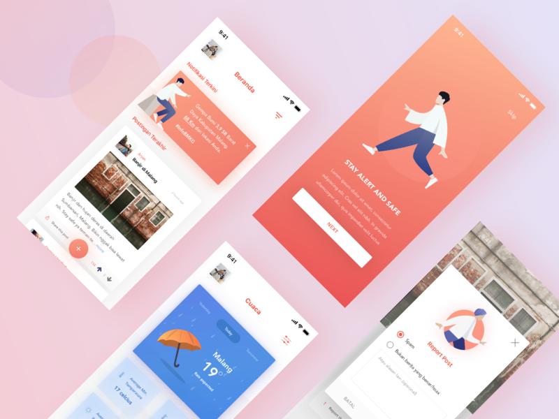 Kitana uidesign mobile uxdesign iphone ios card gradient crowdsourcing app design uiux uipractice ui case study