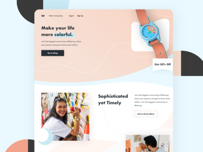 Woodq - Landing Page Concept