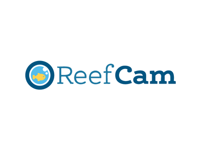 Reefcam Logo reefcam logos fish water blue