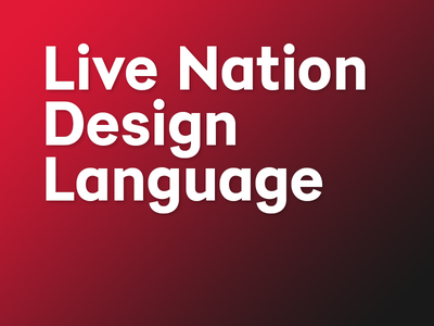LNDL white black red gradient style guide pattern library design language live nation
