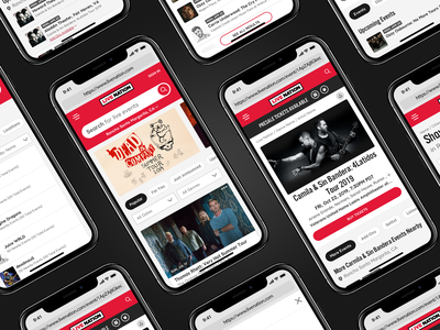It's alive! ui ux website black red live nation