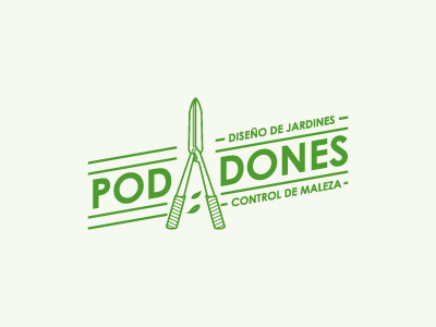 Logo of Podadones icon green logo lawn care lawn grass mow