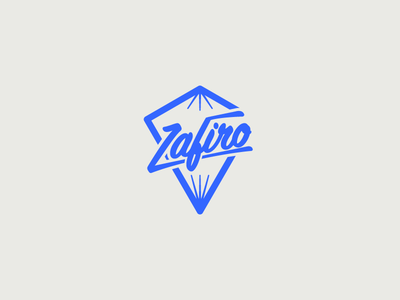 Zafiro clothing jewel blue logo sapphire zafiro