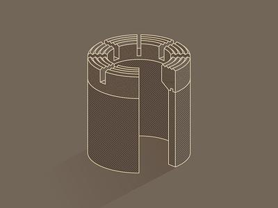 Diamond Core Drill Bit drill bit core bit illustrator adobe brown illustration geotech soil coring