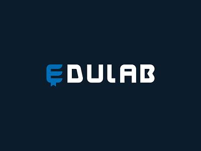 Edulab logo logotype logo bookmark book education