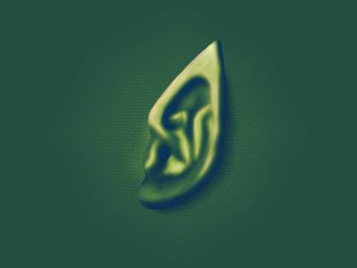 Reptile Skin Ear (Second Digital Paint) wabesite reptile ear digital paint wacom