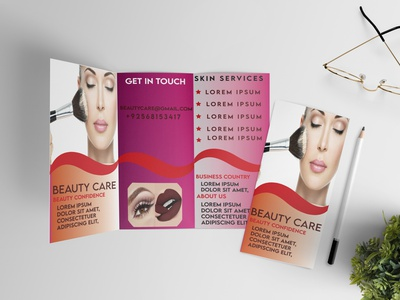 beautycare Brochure Mockup