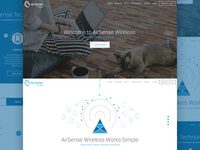 Airsense Wireless Website Concept