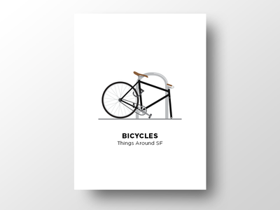 🚲 Bicycles vector thingsaroundsf illustration bicycle fixie bike