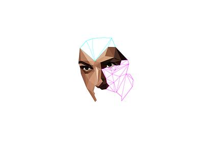 WIP geometric portrait poly portrait polygon illustration