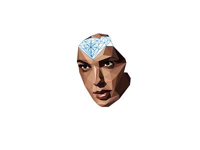 WIP Part 2 geometric portrait poly portrait polygon illustration
