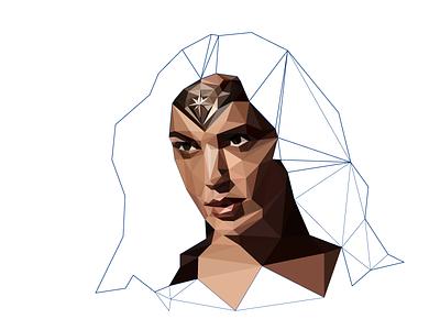 WIP Part 3 geometric portrait poly portrait polygon illustration