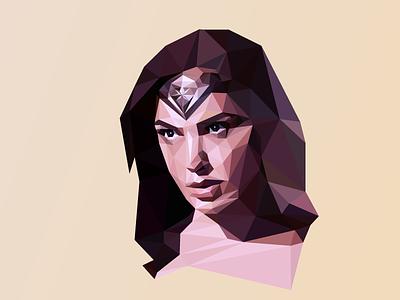 WIP Part 4 portrait poly portrait polygon illustration