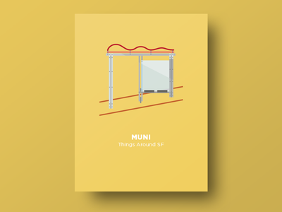 🚌  Muni Bus Stops bus stop sf transportation bus muni vector thingsaroundsf illustration