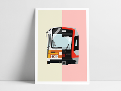 🚇 Muni Metro compare split vector illustration muni thingsaroundsf sf vehicle subway train