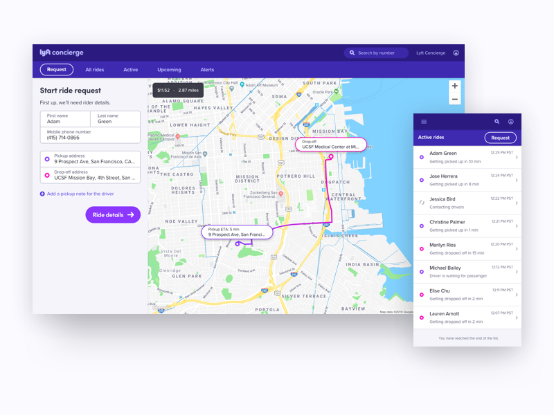 An Upgraded Lyft Concierge by Chris Ota for Lyft on Dribbble